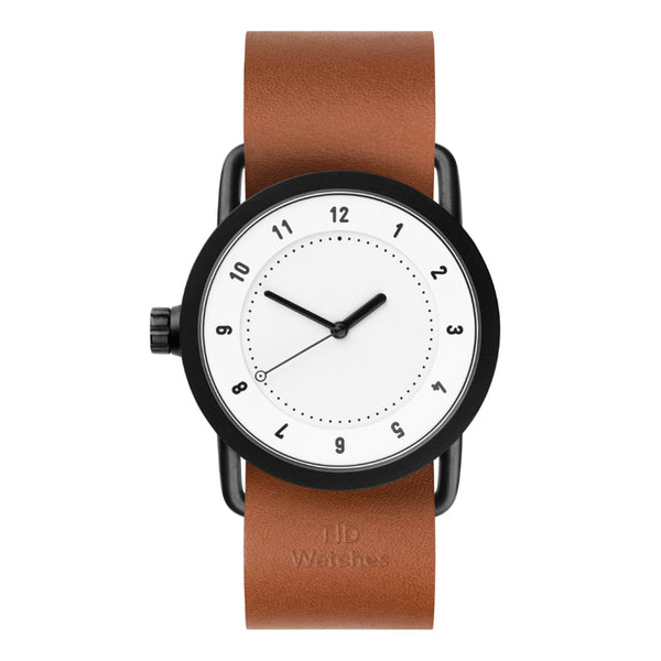 TID Watches TID Watch 36mm No.1 36 White w/ Tan Leather Wristband