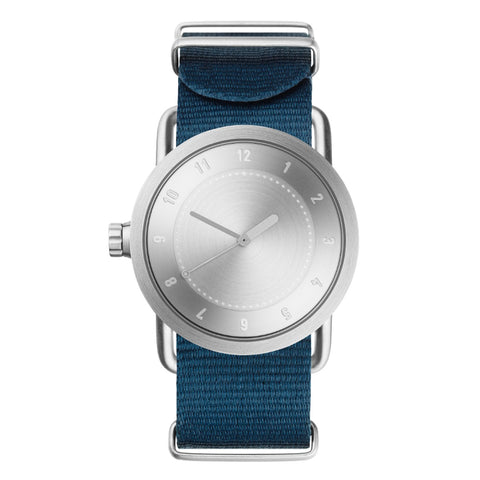 TID Watch 36mm No.1 Steel w/ Blue Nylon Wristband