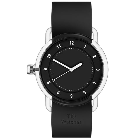 TID Watch 38mm No.3 TR90 Black w/ Black Silicone Wristband