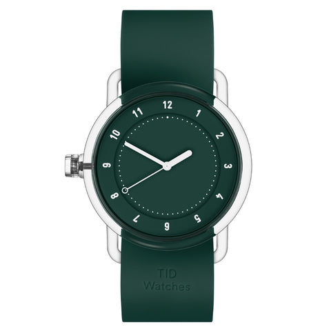 TID Watch 38mm No.3 TR90 Green / Green Silicone Wristband
