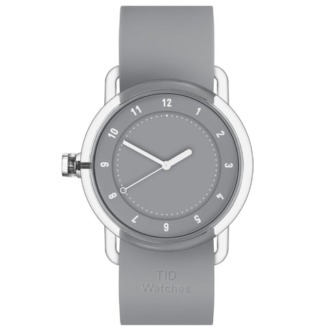 TID Watch 38mm No.3 TR90 Grey w/ Grey Silicone Wristband