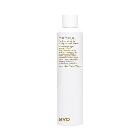 evo miss malleable flexible hairspray 300ml