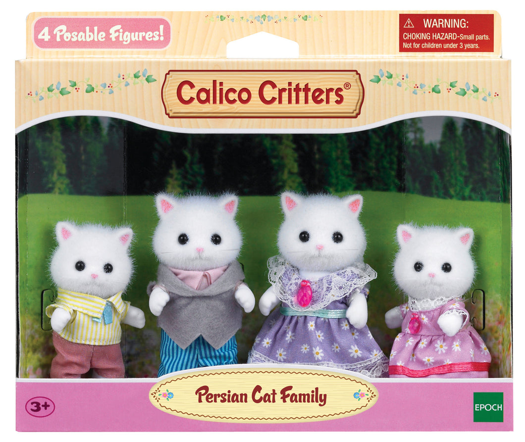 Calico Critter Persian Cat Family