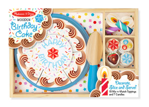 Birthday Cake - Wooden Play Food