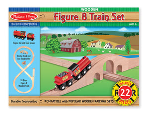 Wooden Figure 8 Train Set