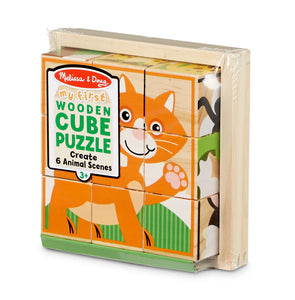 My First Wooden Cube Puzzle - Animals