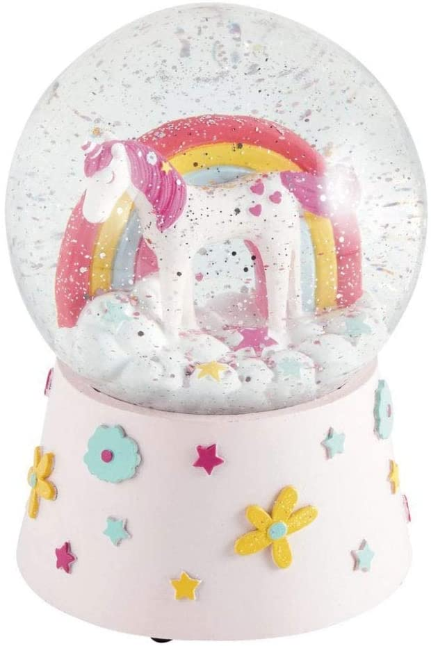 UNICORN MUSICAL SNOW GLOBE