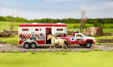 Load image into Gallery viewer, Lights & Siren Animal Rescue Truck & Trailer