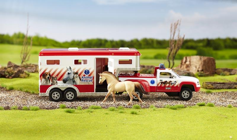 Lights & Siren Animal Rescue Truck & Trailer