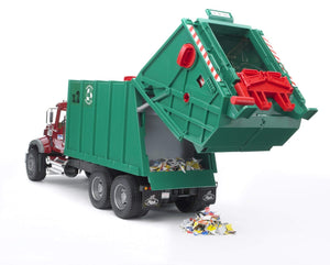Mack Granite Garbage Truck - Ruby Red & Green
