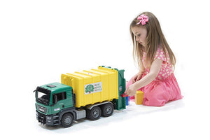 Rear Loading Garbage Truck - Green/Yellow