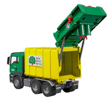 Load image into Gallery viewer, Rear Loading Garbage Truck - Green/Yellow