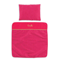 Load image into Gallery viewer, Mon Classique Cherry Blanket and Pillow Set