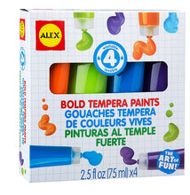 Load image into Gallery viewer, 4 Bold Tempera Paints