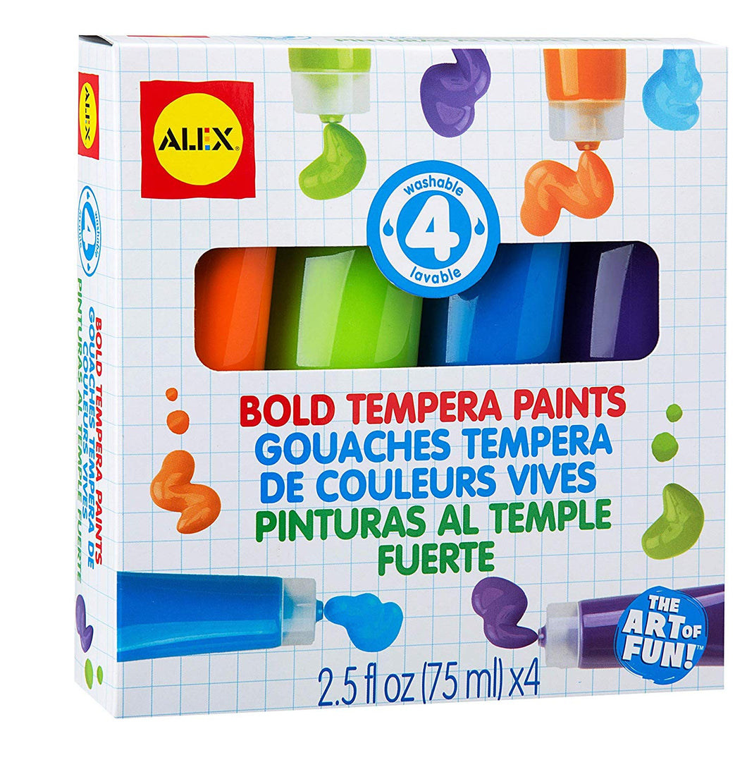 4 Bold Tempera Paints