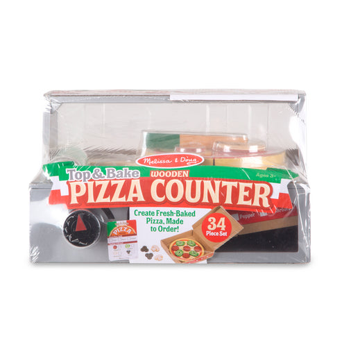 Top & Bake Pizza Counter - Wooden Play Food