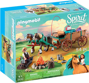 PLAYMOBIL Spirit Riding Free Lucky's Dad with Covered Wagon