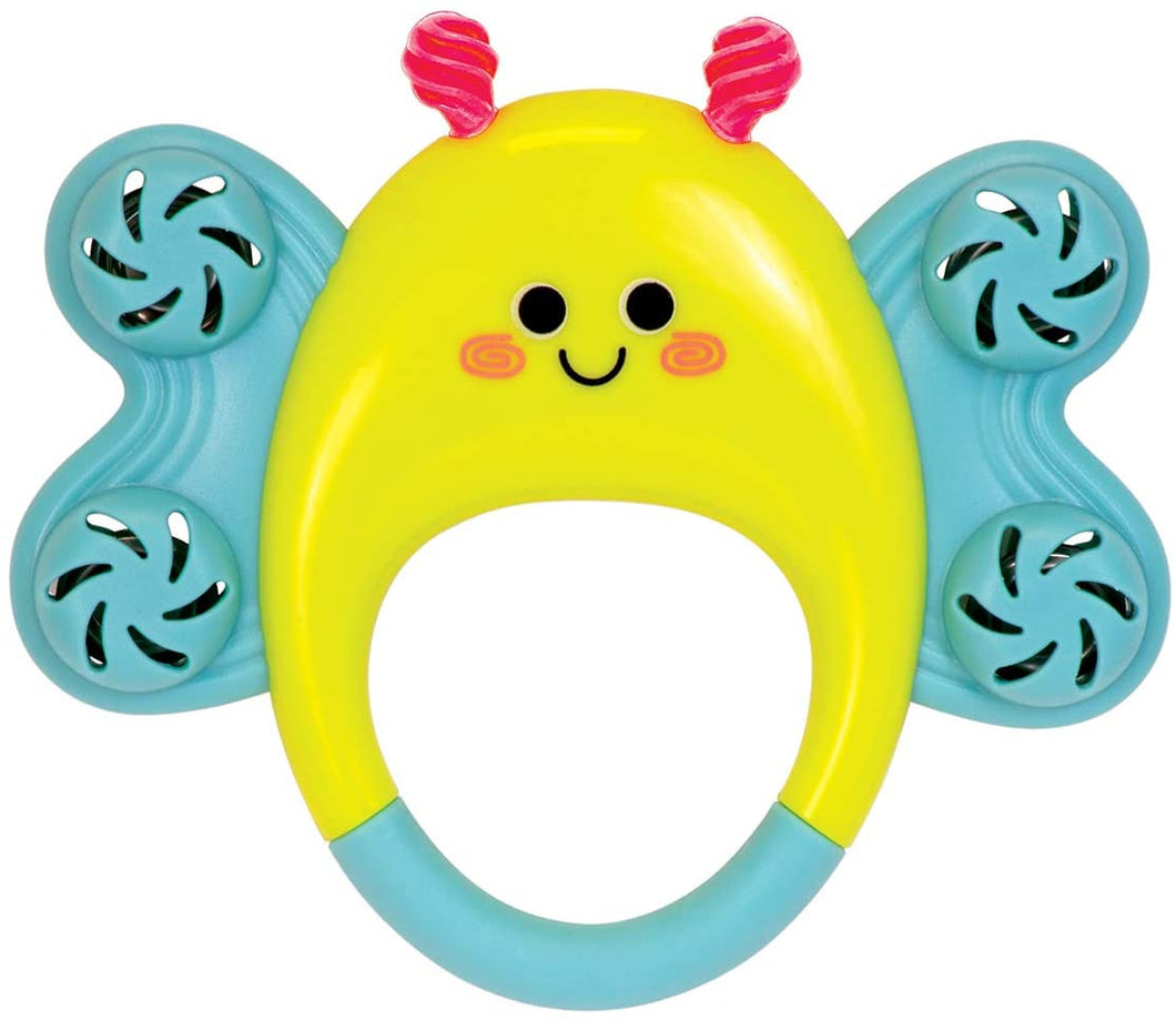 Butterfly Tambourine Musical Baby Rattle