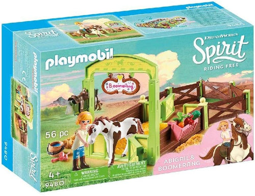 PLAYMOBIL Spirit Riding Free Abigail & Boomerang with Horse Stall