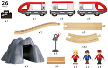 Load image into Gallery viewer, BRIO World Railway Starter Set | 26 Piece Toy Train with Accessories and Wooden Tracks for Kids Age 3 and Up