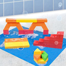Load image into Gallery viewer, BathBlocks Stem Discovery Blocks Bathtub Toy, Pillows 47 STEM Discovery Blocks