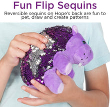 Load image into Gallery viewer, Mini Sequin Pets Sensory Stuffed Animal - Hope The Hippo
