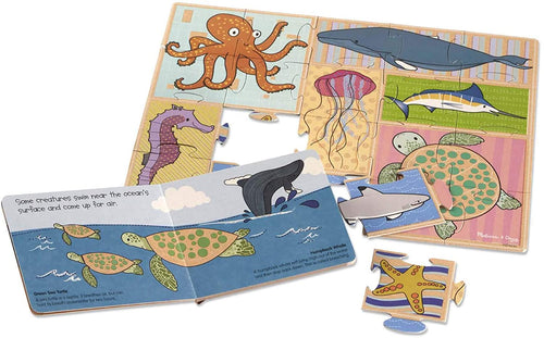 Deep Blue Sea (10-Page Board Book, 20-Piece Cardboard Puzzle)