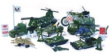 Load image into Gallery viewer, Work Force Kid's Military Backpack Play Set - Includes Die Cast Vehicles and Accessories