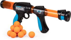 Atomic Power Popper 12X - Rapid Fire Foam Ball Blaster Gun - Shoots Up to 12 Foam Balls
