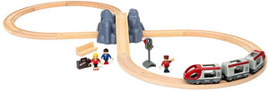 BRIO World Railway Starter Set | 26 Piece Toy Train with Accessories and Wooden Tracks for Kids Age 3 and Up
