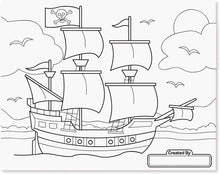 Load image into Gallery viewer, Space, Sharks, Sports & More coloring Pad
