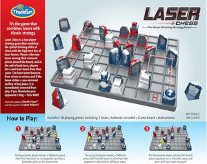 Laser Chess Two Player Strategy Game and STEM Toy