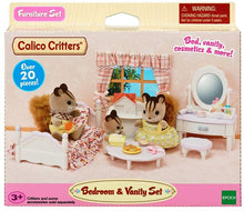 Load image into Gallery viewer, Calico Critter Bedroom & Vanity Set