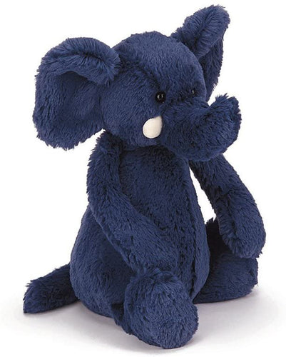 Jellycat Bashful Blue Elephant Stuffed Animal, Medium, 12 inches