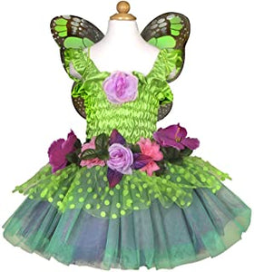 Great Pretenders Fairy Blooms Deluxe Dress & Wings, Green, US Size 3-4