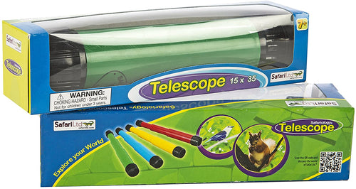 Safari Ltd Safari Science Crisp Image Collapsible Telescope in Varying Colors for Ages 5 And Up. Color Yellow