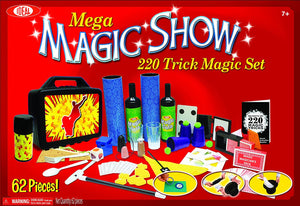 Mega Magic Show Kit 62 Piece Set with Top Hat and Wand Ages 7 and Up