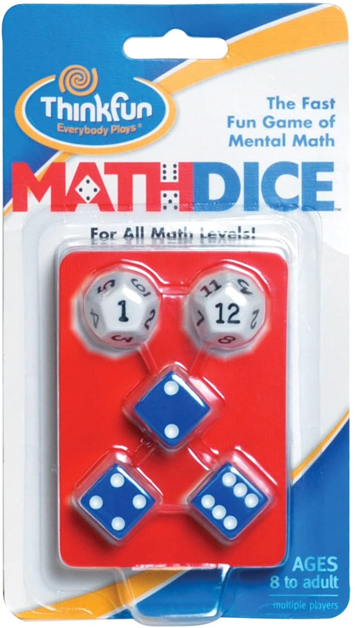 Math Dice Fun Game that Teaches Mental Math Skills to Kids Age 8 and Up