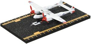 Hot Wings P-38 Jet (Red Tip) with Connectible Runway