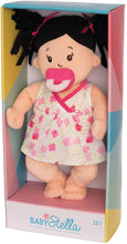 Load image into Gallery viewer, Baby Stella Black Hair Soft First Baby Doll, 15-Inch
