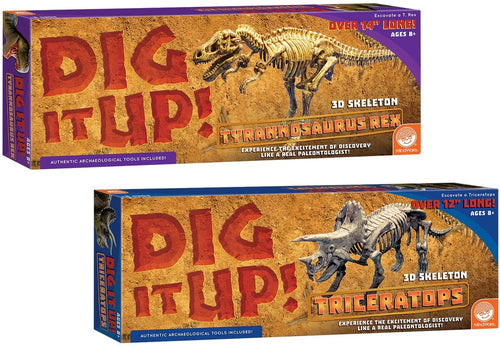 MindWare Dig It Up! T-Rex and Triceratops