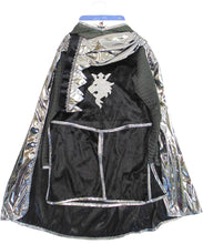 Load image into Gallery viewer, Great Pretenders Silver Knight Tunic Cape & Crown 5/6 Years Dress Up Play