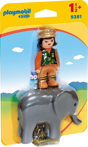 PLAYMOBIL Zookeeper with Elephant
