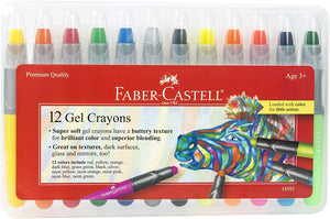 Faber-Castell Gel Crayons - 12 Vibrant Colors In Durable Storage Case