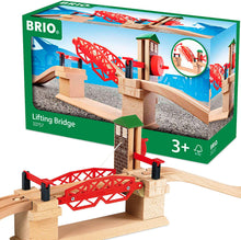 Load image into Gallery viewer, BRIO Lifting Bridge | Toy Train Accessory with Wooden Track for Kids Age 3 and Up