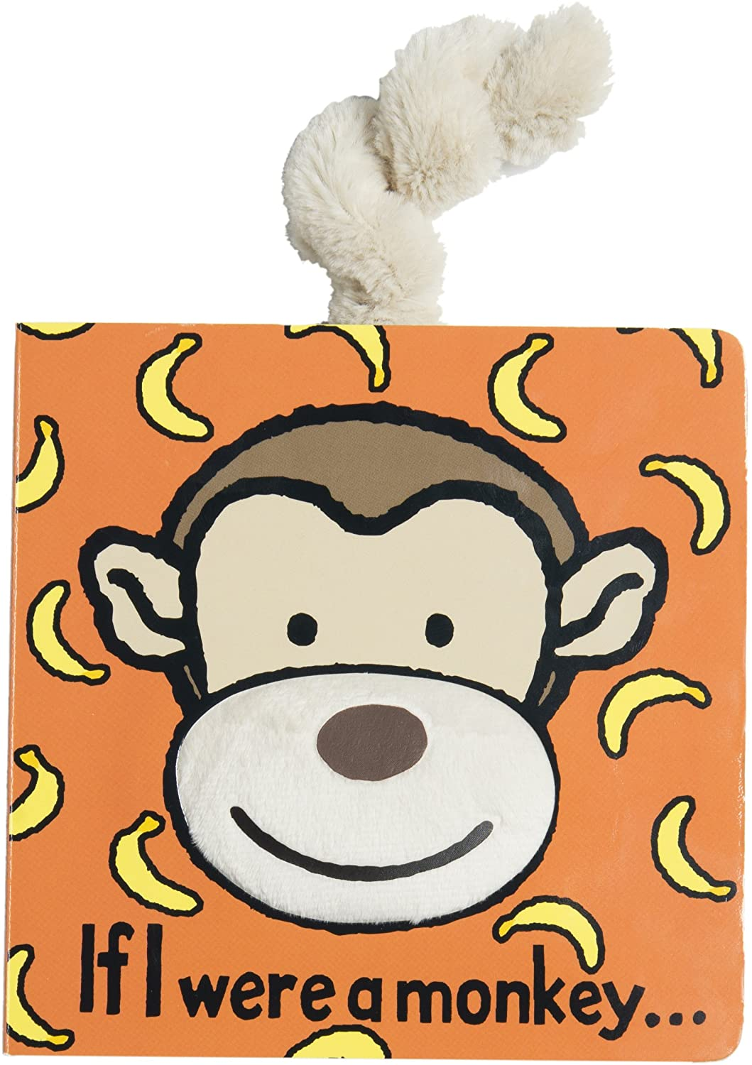 Jellycat Baby Touch and Feel Board Books, If I were a Monkey