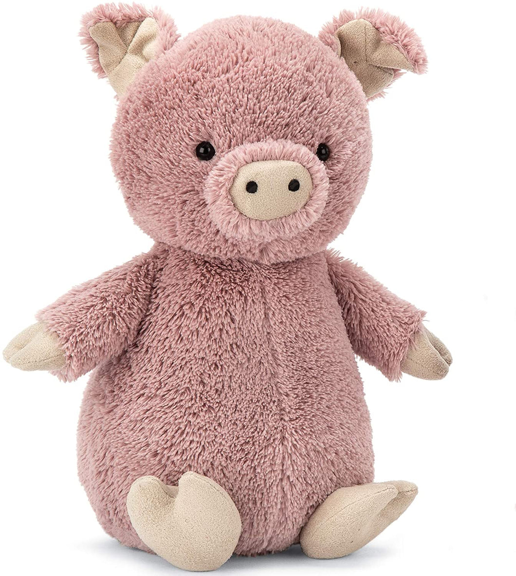 Jellycat Peanut Pig Stuffed Animal, Medium, 9 inches