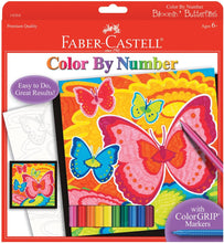 Load image into Gallery viewer, Faber-Castell Color by Number Bloomin' Butterflies
