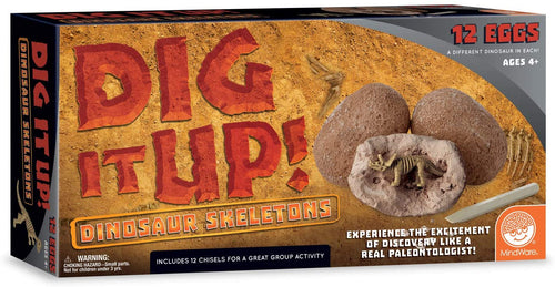 MindWare Dig It Up! Dinosaur Skeleton Eggs Excavation kit