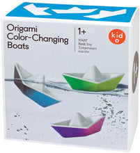 Load image into Gallery viewer, Kid O Color-Changing Origami Boats Bath Toy Set